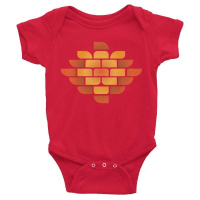 Brick Lion Baby Onesie - Red
