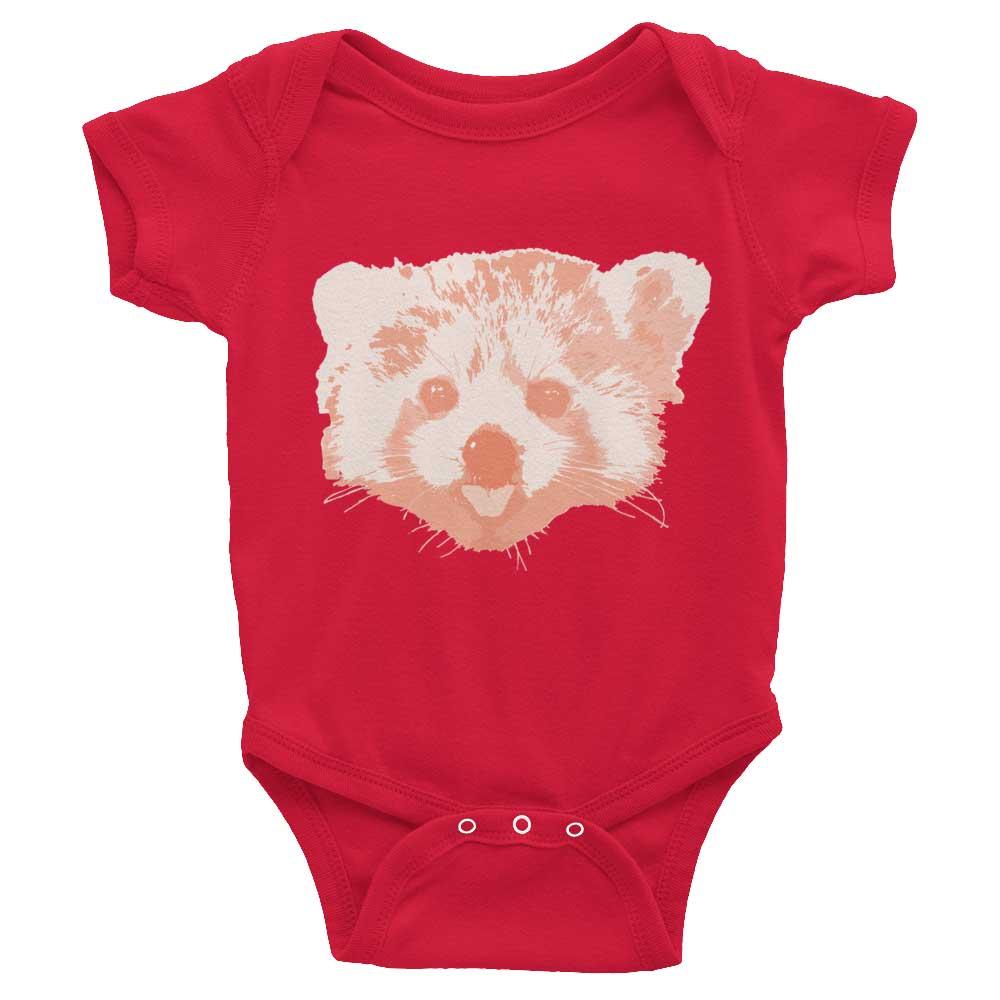 Red Panda Baby Onesie - Red