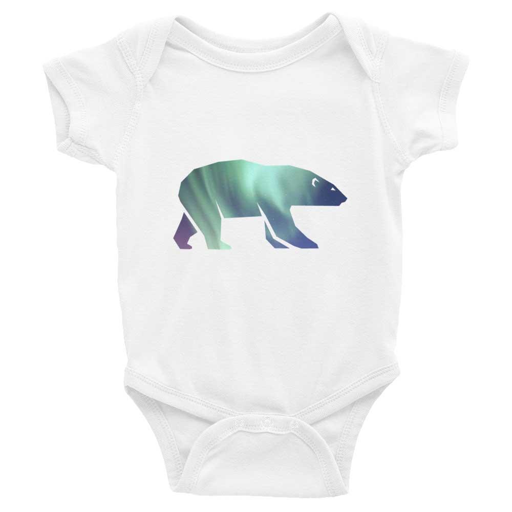 Polar Bear Habitat Baby Onesie - White