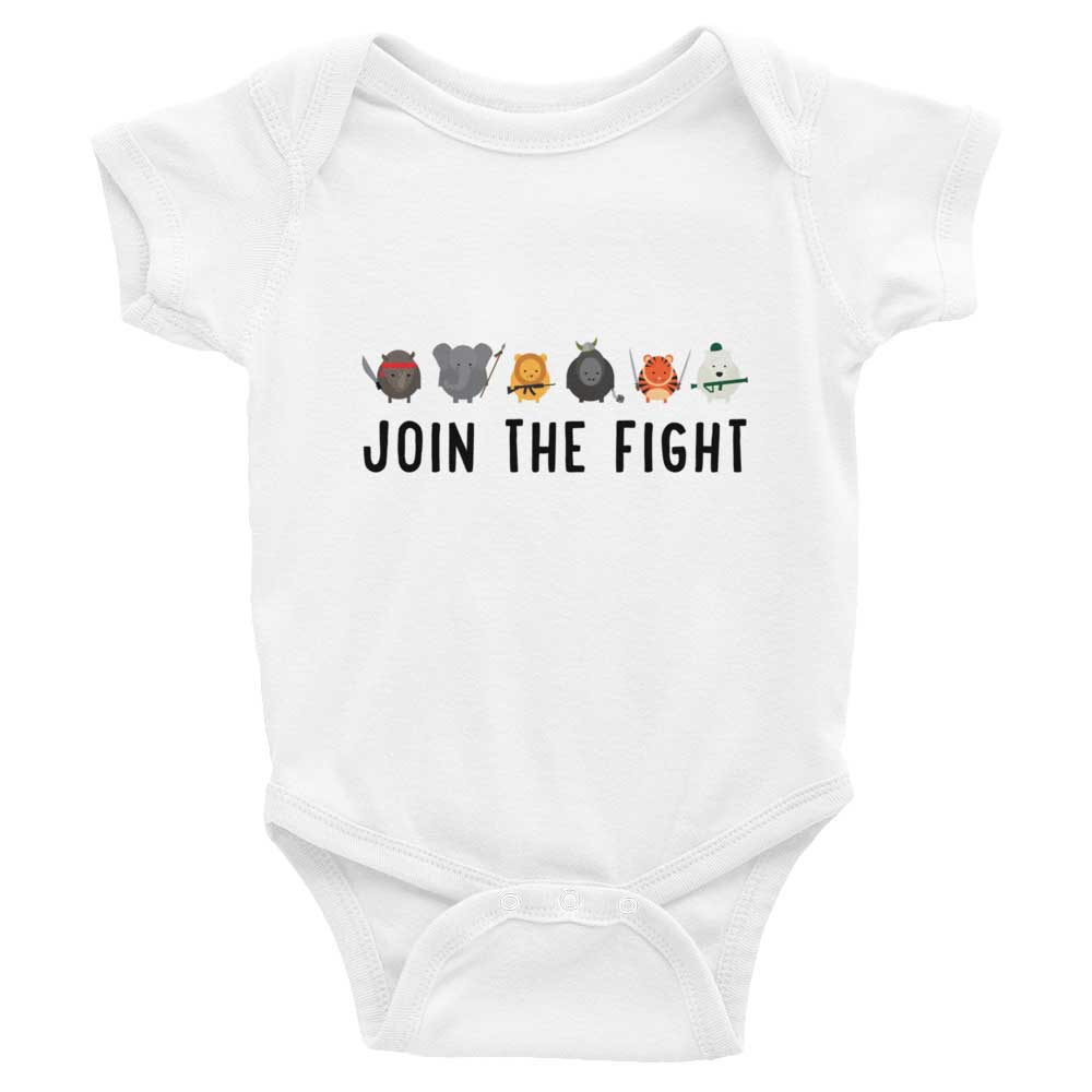 Join the Fight Baby Onesie - White