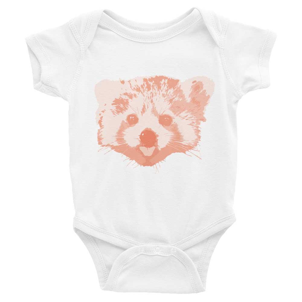 Red Panda Baby Onesie - White