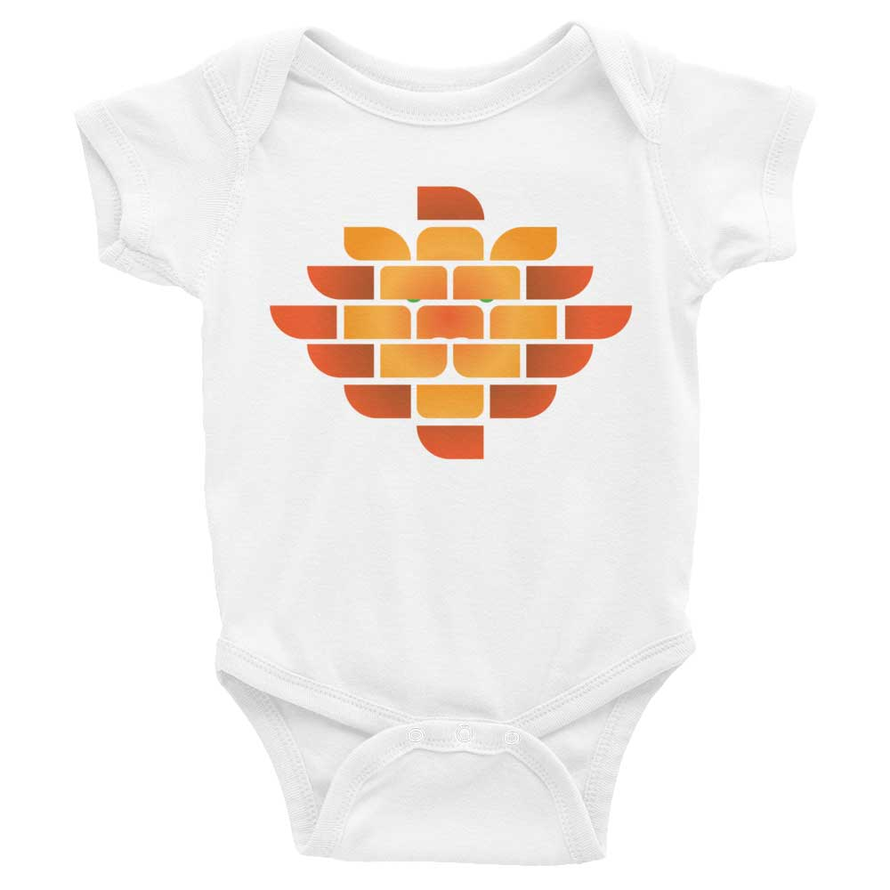 Brick Lion Baby Onesie - White
