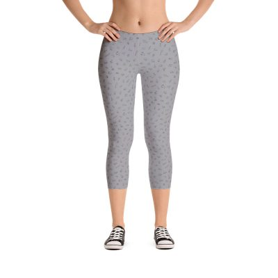 Endangered Species Outline Capri Leggings - Gray