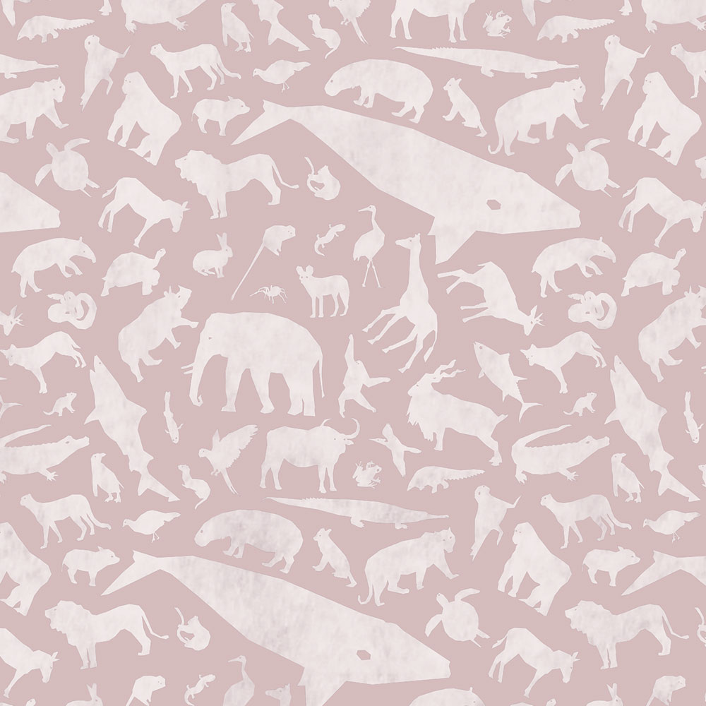 Endangered Species Solid Pattern Up Close - Pink