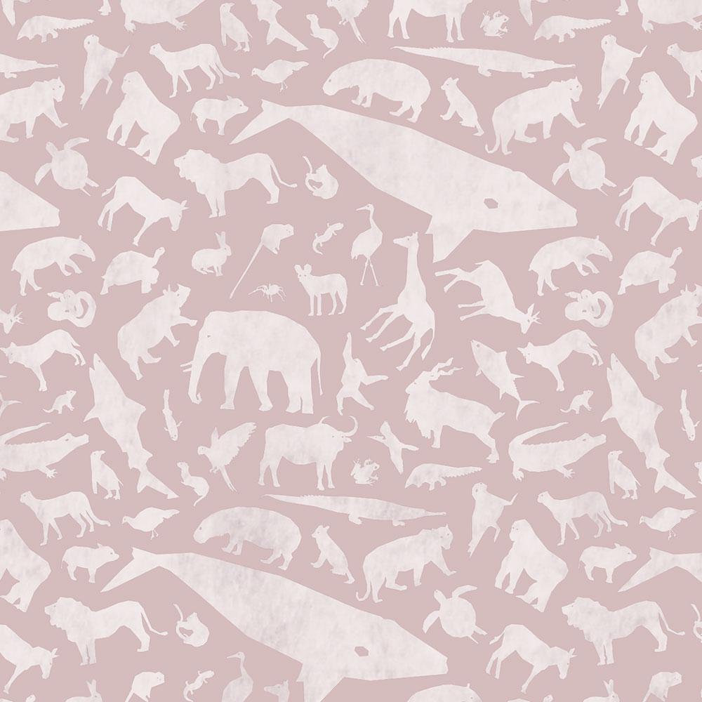 Endangered Species Solid Pattern Up Close - Pink
